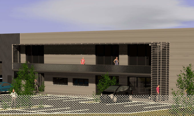 Construction d'un bâtiment industriel à Civrieux